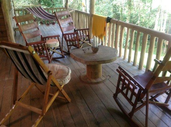 La Carolina Lodge: Terrasse