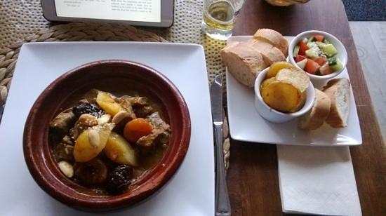 Chomicha: Steamed Beef Surprise - with fruit and almonds - delicious