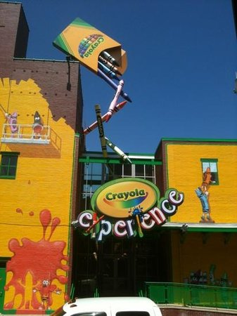 Crayola Experience: Outside the building of Crayola