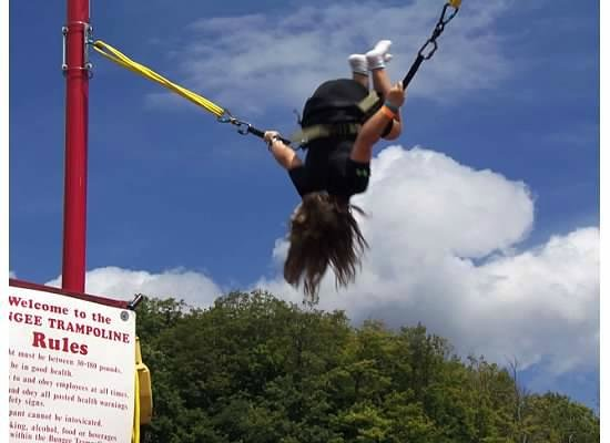 Bromley Mountain : Flipping fun on the Bungee Jump