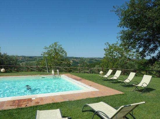 Villa Sant'Andrea: Jardin, piscine et vue