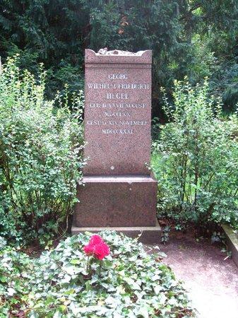 Dorotheenstadt Cemetery: Tombstone of 19th-century philosopher Georg Friedrich Wilhelm Hegel