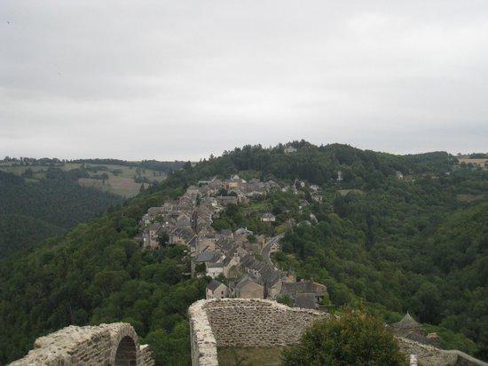 Forteresse de Najac: vista del pueblo desde el fuerte