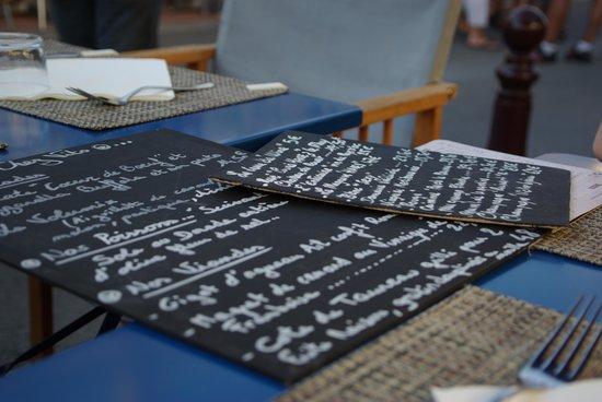 Chez Vito : le menu