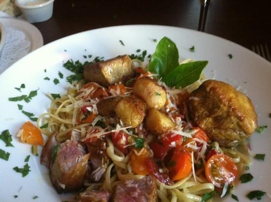 MP Dining Company: Scallops Ahi Tuna Pasta w/tiny tomatoes