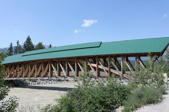 Kicking Horse Pedestrian Bridge - an engineer's masterpiece