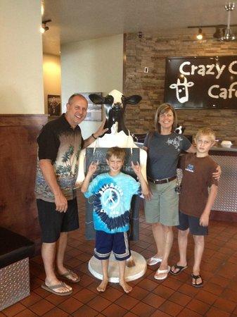 Crazy Cow Cafe: Crazy cow Photo Opp