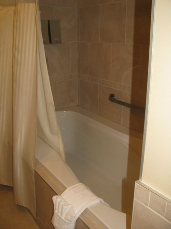 Hotel du Vieux-Quebec: bathtub/shower in room 110 bathroom