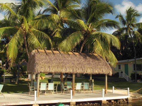 Coconut Bay Resort: Le jardin et l'emplacement des tables pour prendre ses repas près de la mer