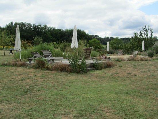 Saint Leon, Fransa: La piscine naturelle et sa terrasse en bois