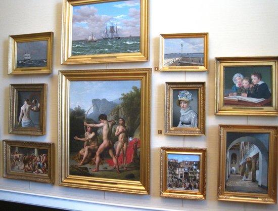 Hirschsprung Collection (Hirschsprungske Samling): Wall of 19th-century Danish paintings