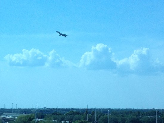 Hilton Garden Inn Tampa Airport Westshore: Plane taking off