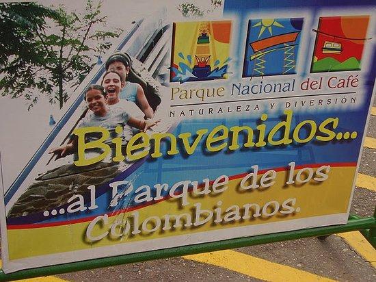 Montenegro, Colombia: Bienvenidos al Parque