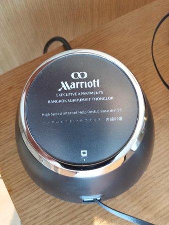 Marriott Executive Apartments Bangkok, Sukhumvit Thonglor: High speed, yeah right....