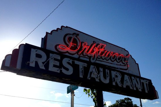 Driftwood Restaurant: Iconic Driftwood Sign