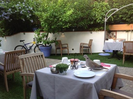 Hotel de Provence: breakfast in the garden