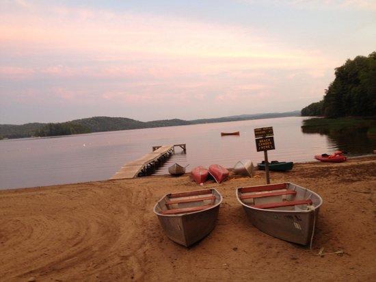 Beautiful sunset on Lake Piseco at the Irondequoit Inn.