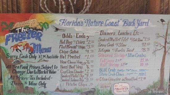 Homosassa, FL: Menu