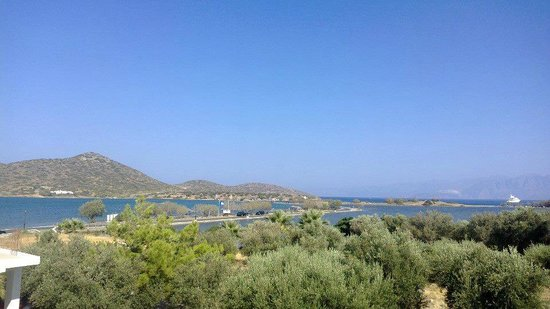 Elounda Sunrise Apartments: Our view every morning from the balcony of Rm 32