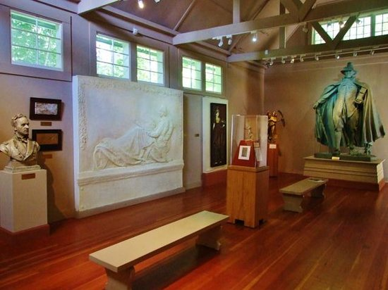 Saint-Gaudens National Historic Site: Interior example of displays