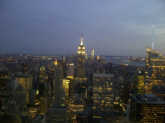 New York Hilton Midtown: View from Top of The Rock, Rockafeller Plaza