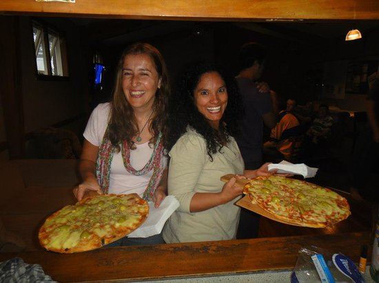 At The Right Place: Pizza night at the backpackers