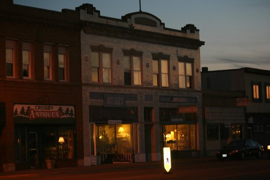 Three Antique Stores on Main Street in Crosby