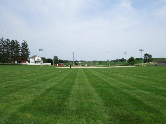 Field of Dreams Movie Site: Looking at the field from the cornfield