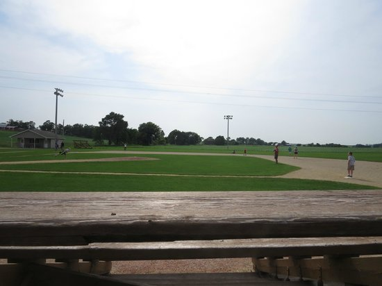 Field of Dreams Movie Site: Watching a family play a pick-up game at the Field of Dreams