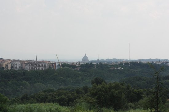 Courtyard by Marriott Rome Central Park: Veiw of the Vatican from our balcony