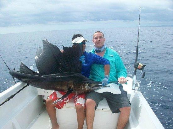 Nosara Paradise Rentals: Kevin and i with a sailfish!