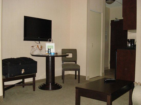 "Holiday Inn Express Hotel & Suites Washington DC-Northeast : The ONLY pic I got of the ""Living room area"" there was another Tv in the bed section"