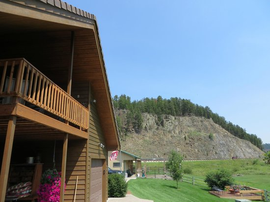 Double Diamond Ranch: view from outside room