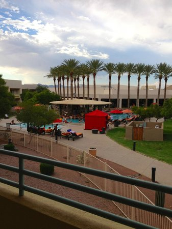 "Harrah's Ak-Chin Casino Resort: view from ""resort premium poolside queen room"""