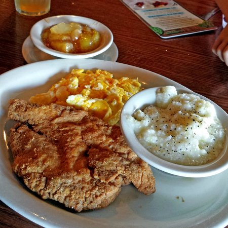 Chicken Fried Chicken And Eggs Picture Of Cracker Barrel Warner