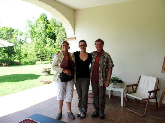 Agriturismo Ai Carpini: Nous, Louise et Pierrot de Valleyfield, et Tanya