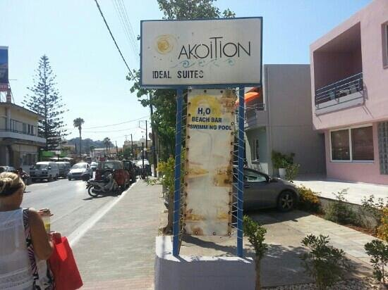 Akoition Hotel: Front