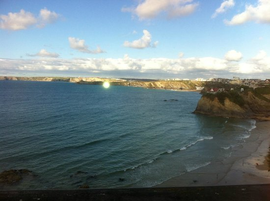 St. Christopher's Inn Newquay: view from the sea beer garden