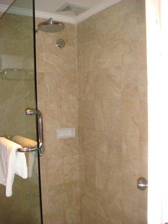 The Breezes Bali Resort & Spa: walk in shower in tiny bathroom