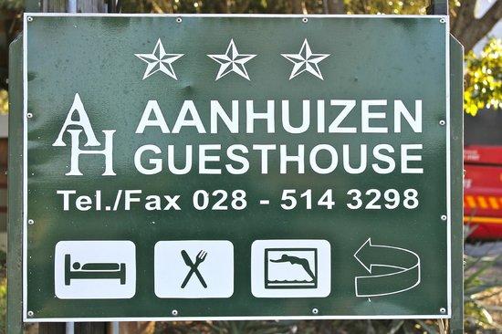 Aanhuizen Guest House : Aankomst