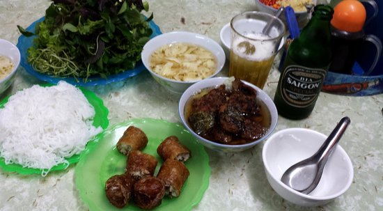 Dac Kim: Bún Chả for one.  With beer, the cost was $5.50