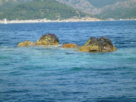 Diving in Elba: Two Boys named by Napoleon