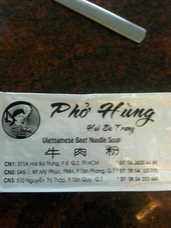 Pho Hung: 3 branches.. picture not too clear