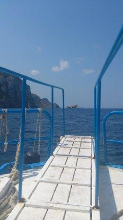 Aquabus Ferry Boats: Boarding gangplank view forward.
