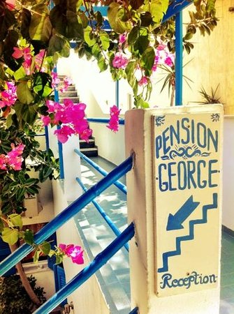 Pension George: Entrance