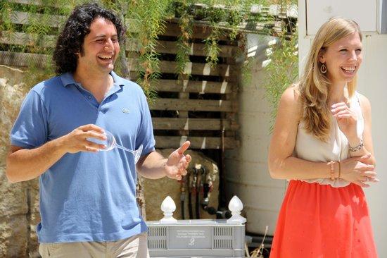 Zambartas Winery: Marcos and Marleen