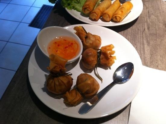 Thai Station: un entrée super bon avec des pomme de terre poulet etc...dedans