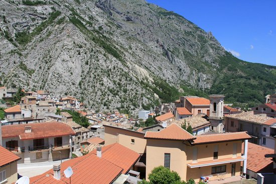 Residence La Piazzetta: View of the town and mountain from the room's balcony