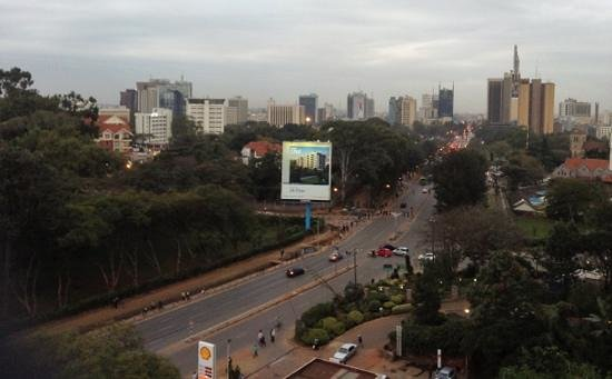 Sarova Panafric: This was the view from my suite across to the cbd