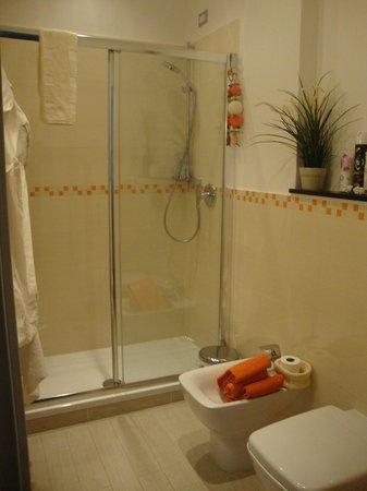 B & B Lercari: Bagno zona doccia
